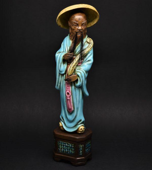 Statuetta Cinese In Porcellana