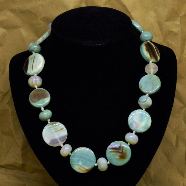 Collana In Agata Azzurra