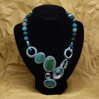 Collana In Agata Verde