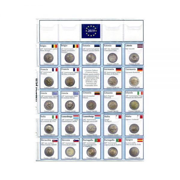 Foglio Per 2 Euro Commemorativi 2019