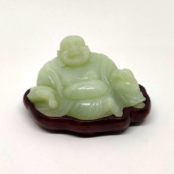 Buddha Che Ride In Giada