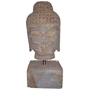 Testa Di Buddha In Pietra