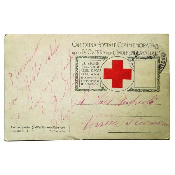 Cartolina D'epoca Croce Rossa