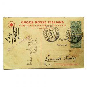Cartolina Croce Rossa Pavia
