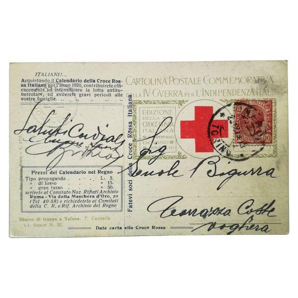 Cartolina Croce Rossa Italiana