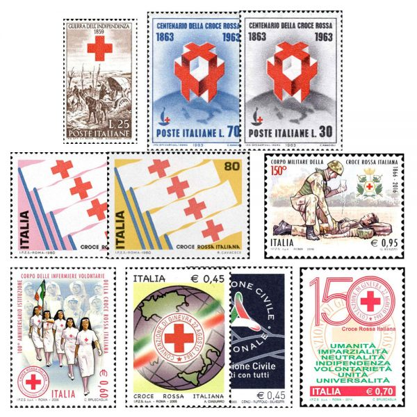 Francobolli Croce Rossa