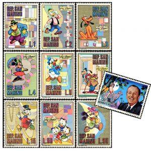Francobolli Walt Disney