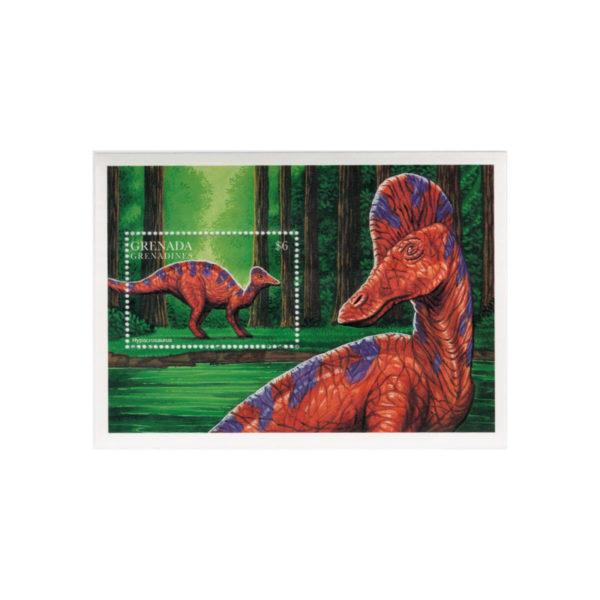 Francobollo Con Dinosauro