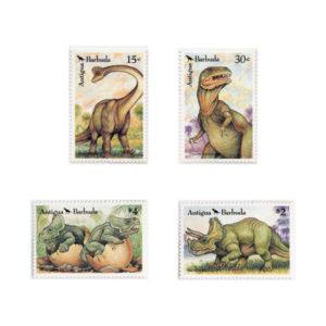 Serie Di Francobolli Dei Dinosauri