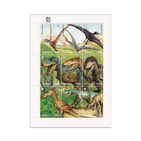 Francobolli Dinosauri Del Ghana