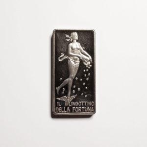 Lingotto Della Fortuna In Argento Puro - 50 gr.