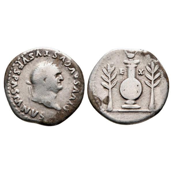 Denario Di Vespasiano In Memoria