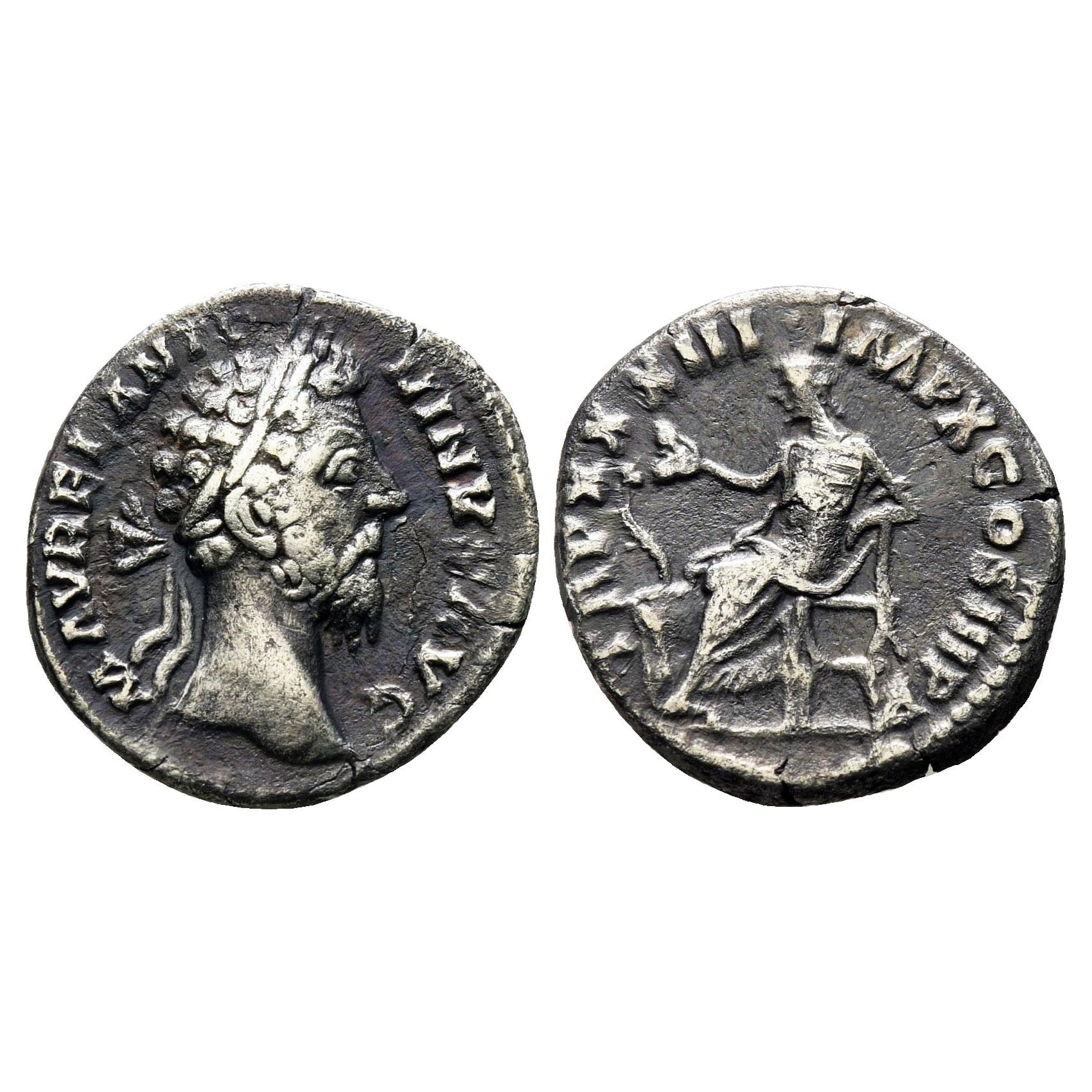 Moneta Dell'Imperatore Marco Aurelio