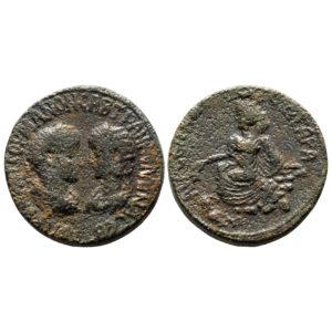 Moneta Di Gordiano III E Tranquillina