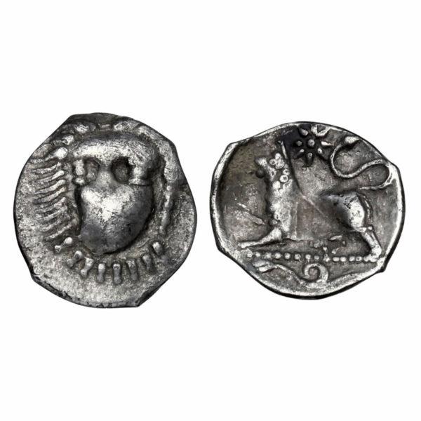 Obolo in argento della Magna Grecia