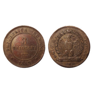 Tre Baiocchi Repubblica Romana