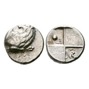 Moneta Argento Con Uva