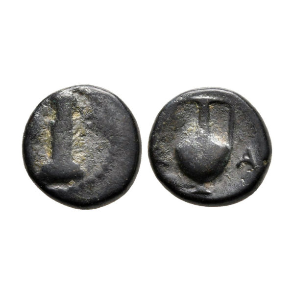 Moneta In Bronzo Della Tracia
