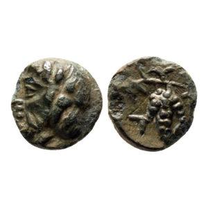 Moneta Greca Con Uva
