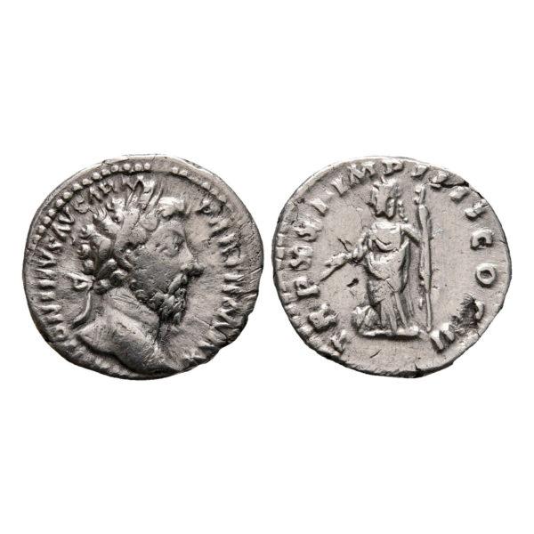 Moneta D'Argento Di Marco Aurelio